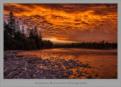Sunrise on the Agawa River in Ontario's Lake Superior Provincial Park