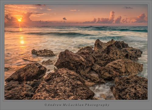 Sunrise on Cayman Brac (Nikon D800, Nikon 18-35mm leans, & Manfrotto BeFree Tripod