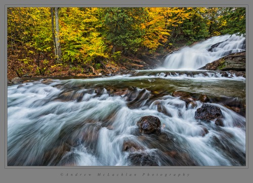 Hatchery Falls on the Skeleton River, Muskoka, Ontario. Nikon D800, Nikon 18-35mm lens @ 21mm. ISO 200, f16 @ 0.4 sec