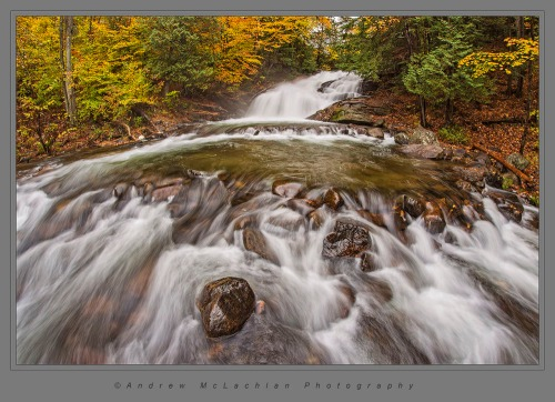 Hatchery Falls on the Skeleton River. Nikon D800, Sigma 15mm f2.8 EX DG Fisheye Lens, ISO 100, f16 @ 0.5 sec.