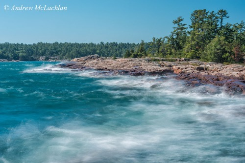 Multiple Exposure of Red Rock Point on Georgian Bay in Killarney, Ontario Nikon D800, Nikon 80-400mm VR lens @ 80mm ISO 50, f32 @ 1/5 sec 6 Frame Multiple Exposure (each frame has the same f-stop and shutter speed)