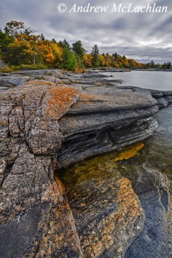 "Georgian Bay, North Shore Rugged Hiking Trail in Parry Sound, Ontario, Canada Nikon D800, Nikon 18-35mm lens "" 18mm ISO 50, f16 @ 1/5 sec. Nikon Neutral POlarizing Filter Sing Ray 2-stop Graduated Neutral Density Filter"