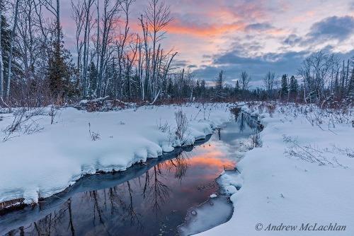Winter Stream, Innisfil, Ontario, Canada